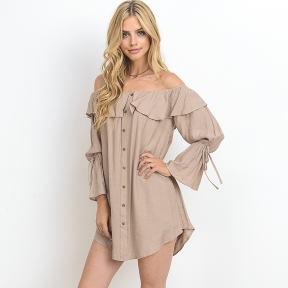 Dresses & Skirts - Dusty Pink Romantic Mini  Dress